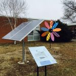 Students at Henley Middle School in Crozet, Va. helped design an art installation powered by a solar panel. Photo courtesy Albemarle County Public Schools