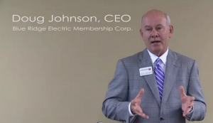 Blue Ridge Electric Membership Corporation's CEO Doug Johnson.