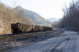 A train leads up to a Patriot Coal site in Kanawha County, W.Va. Photo by Foo Conner | Jekko.