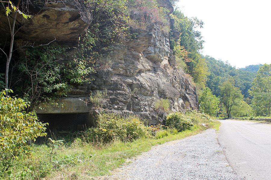 An abandoned underground mine portal near Haysi
