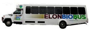 Each of Elon University's 11 BioBuses is equipped to run on  a 20 percent biodiesel fuel blend. Photo courtesy of Elon University.