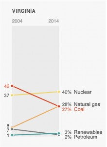 """""""How Each State Generates Electric Power (2004-2014),"""" graphics by Christopher Groskopf, Alyson Hurt and Avie Schneider/NPR"""