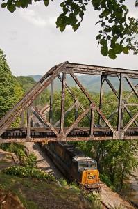 An empty CSX coal train. Photo by J. Mueller