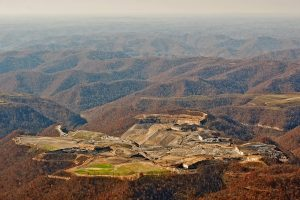 Photos of mountaintop removal coal mining by Carl Galie