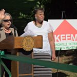 Mayor Rogero and Dorothy Ware on KEEM opening day. Image courtesy of City of Knoxville Office of Sustainability and Knoxville-Knox County Community Action Committee Housing & Energy