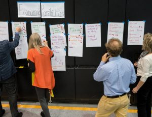 Common themes that emerged from all eight forums were supporting advanced manufacturing and ecotourism, enhancing relationships between local colleges and the community, expanding broadband infrastructure, and ensuring that younger people have a voice in helping shape the region's future. Photo by Alistair Burke