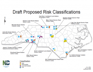 Map of DEQ's proposed classification risks.