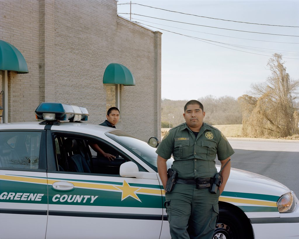"Greene County, Tenn., police officers, part of ""Hispanic Appalachia"" by Megan King"