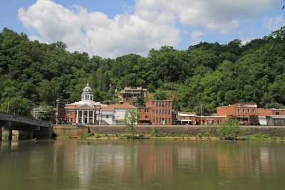 Marshall, N.C. on the French Broad River. Photo by Jamie Goodman