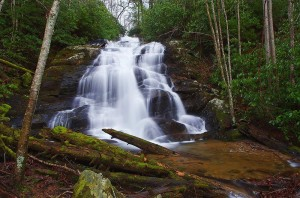 The big waterfall on Lower Higgens Creek. Photo by Marty Silver, Tennessee State Parks