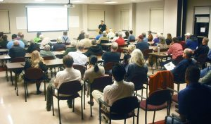 Residents attend an info session for the Massanutten Regional Solar Co-op. Photo courtesy VA SUN