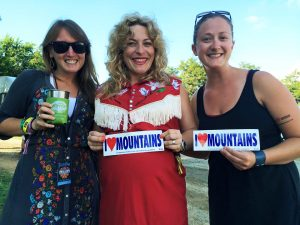 Appalachian Voices staff Kayti Wingfield (left) and Kate Rooth (right) with  Cary Ann Hearst from the musical duo Shovels and Rope. Photo by Appalachian Voices