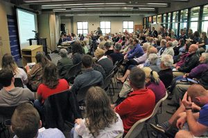 Hundreds of residents packed a series of hearings on coal ash cleanup in North Carolina during March.  Photo by Jimmy Davidson