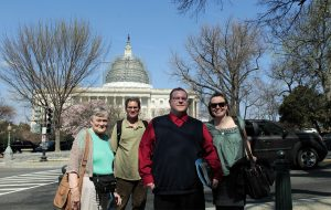 Representatives of The Alliance For Appalachia during a March trip to Washington, D.C.