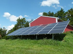 Joy Loving's solar installation in Rockingham County, Va. Photo courtesy of Joy Loving