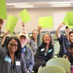Citizens signal their support for clean energy at a recent meeting of the Dept. of Environmental Quality's Clean Power Plan stakeholders group,