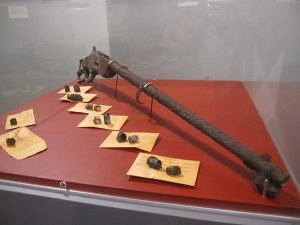 Weapons and spent ammunition emphasize the violence of the time period. Photo courtesy of West Virginia Mine Wars Museum