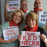 "The term ""redneck"" can be traced back to union miners who showed their allegiance by wearing red bandanas. Photo courtesy of WV Mine Wars Museum"
