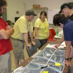 30 area residents provided input during the Riverwalk Design Evening. Photo by Fred Ramey