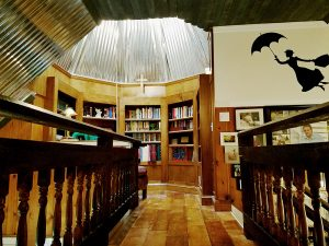 The bell tower library, which Teri, a book-lover, worked on tirelessly. Photos by Teri Crawford Brown