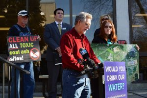 Citizens rally in N.C. to call for clean-up of toxic coal ash pits across the state.