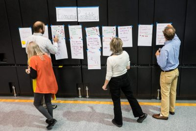 """""""Citizens share ideas about diversifying the local economy at a public forum last fall in Wise County, Va., hosted by Appalachian Voices."""