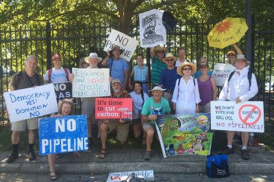 "In July, 2016, more than 600 people gathered in Richmond, Va., for the ""March on the Mansion"" to ask Gov. Terry McAuliffe to stand against proposed pipelines in the state."