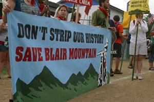 Blair protest