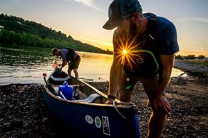 Birthplace of Rivers National Monument advocates Matt Kearns and Adam Swisher journeyed the entire 173 miles of the Elk River by canoe, bike and foot to generate interest among other paddlers for the proposed national monument. Photo by Chad Carpenter / West Virginia Rivers Coalition