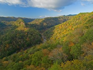 The Russell Fork River is the main attraction of Breaks Interstate Park, which straddles Virginia and Kentucky.
