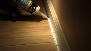 Caulking cracks and crevices reduces air leakage to unfinished areas of your home.