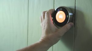 Turning down your thermostat in the winter uses less energy and saves money.