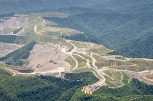 Mountaintop removal coal mining continues to threaten the mountains and rivers of Central Appalachia. This image of Kayford Mountain was taken in July 2014. Photo by Lynn Willis, courtesy of Appalachian Voices/Southwings