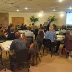 Community members in the French Broad electric co-op service area in western NC attend a forum on energy efficiency.
