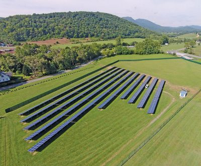 BARC's solar farm contains 1,750 solar panels and produces 550 kilowatts of energy. Photo courtesy of the BARC Electric Cooperative