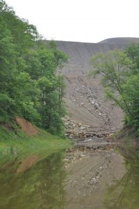 A valley fill beneath a mountaintop removal mine in eastern Kentucky. The Stream Protection Rule would have limited the practice.