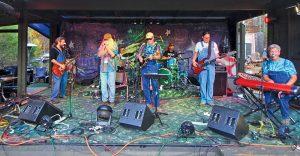 Musicians jam during HemlockFest. Photo by Dave Elmore.