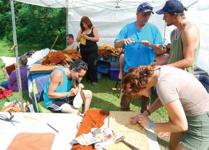 Participants learn crafts during Whippoorwill Festival.  Photo courtesy Jameson Pfiel