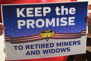 The Miners Protection Act would solve the problem of expiring health benefits and a nearly insolvent pension fund that thousands of retired coal miners rely on. But Congress must act soon. Photo from Jobs With Justice.