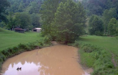 Meathouse Fork in W.Va., below the Stonewall Gathering Pipeline construction zone. Photo by Michael Barrick; courtesy Dominion Pipeline Monitoring Coalition.