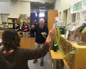Ribbon cutting at the Watauga County Seed Library. Photo by Dave Walker
