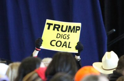 Now that he's in office, President Trump's promises to coal are colliding with the reality of the market forces shaping the industry's future. Photo via Flickr, licensed under Creative Commons.