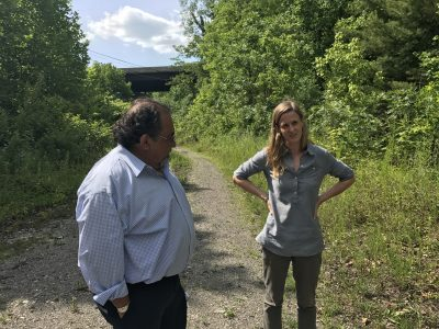 Rep. Grijalva and Erin Savage, of Appalachian Voices, visit the Tipple Hill site in Norton, Va.