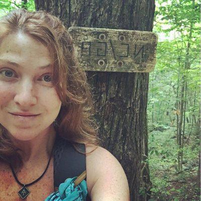 Hiking selfie