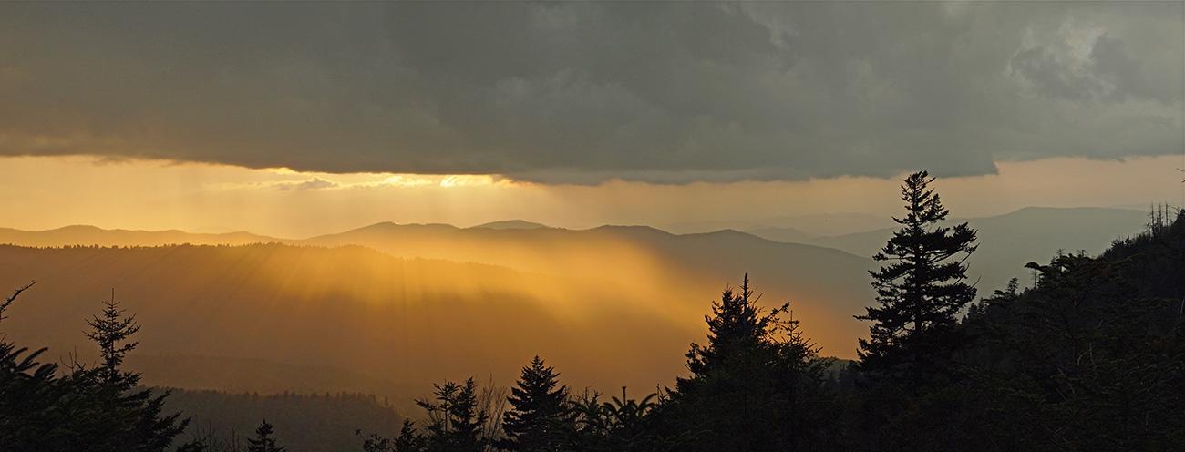 Sunset over Great Smokeys