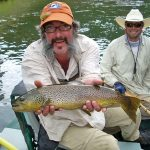 Keel with brown trout