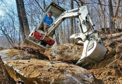 Trail-building Bulldozer