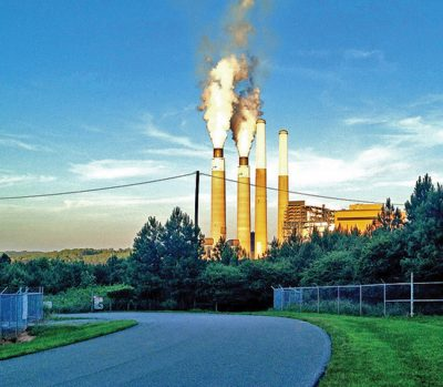 Duke Energy's Belews Creek Power Plant. Photo courtesy of Appalachian Voices