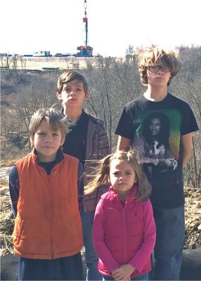 Lois Bower-Bjornson's children have experienced nosebleeds and skin irritations since fracking wells began operating near their home in Southwest Pennsylvania. Photo by Lois Bower-Bjornson
