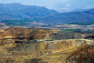 This mountaintop removal coal mining site is on Looney Ridge above Inman, Va. Photo by Erin Savage/Appalachian Voices